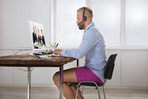Die richtige Kleidung im home office